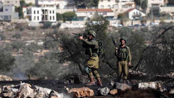 Soldados israelíes en Cisjordania - Sputnik Mundo