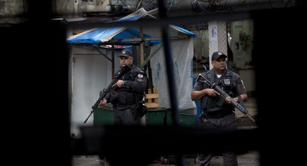 Policía militar brasileña