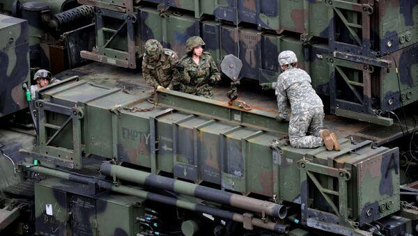 Un sistema de misiles Patriot en Polonia - Sputnik Mundo