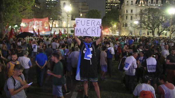 Movilización en Argentina contra el presidente Mauricio Macri - Sputnik Mundo