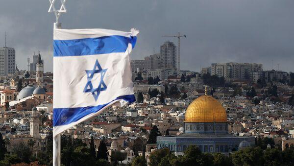 La bandera israelí en Jerusalén - Sputnik Mundo