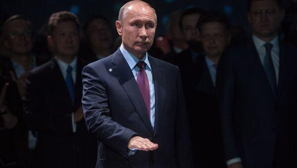 Vladímir Putin, presidente de Rusia, da salida al cargamento de GNL de la compañía Yamal SPG - Sputnik Mundo