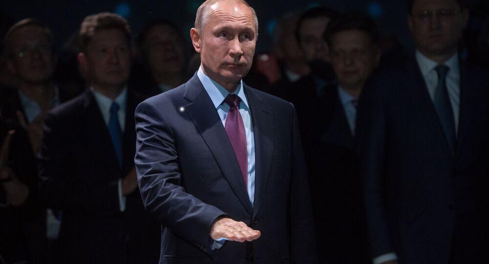 Vladímir Putin, presidente de Rusia, da salida al cargamento de GNL de la compañía Yamal SPG