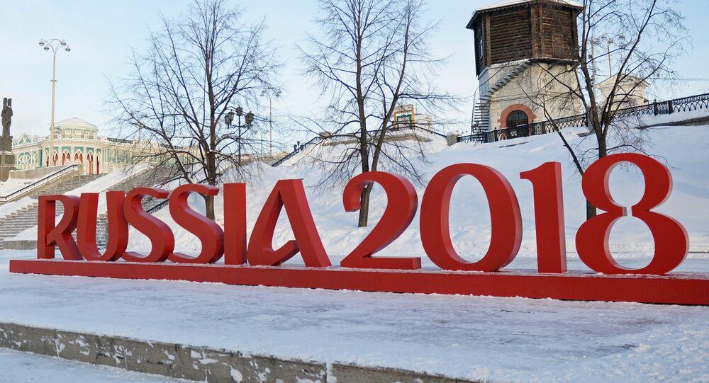 Un símbolo de la Copa Mundial 2018 en Ekaterimburgo