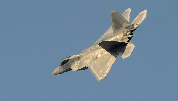 Un avión futrivo estadounidense F-22 Raptor (archivo) - Sputnik Mundo