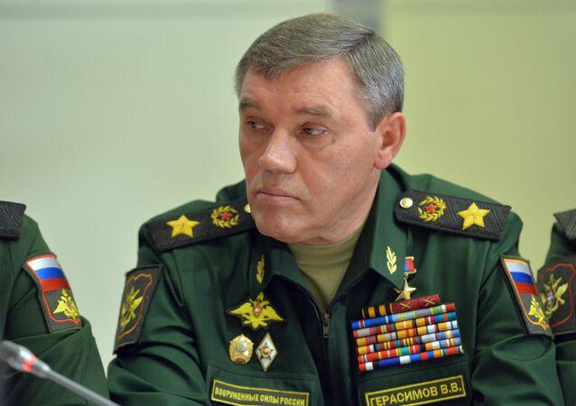 Valeri Guerásimov, jefe del Estado Mayor de Rusia (archivo)