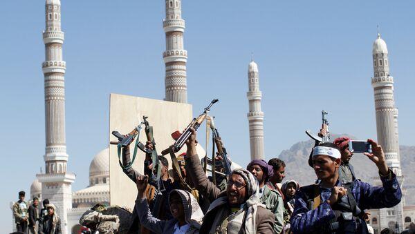 Los rebeldes hutíes en Yemen - Sputnik Mundo