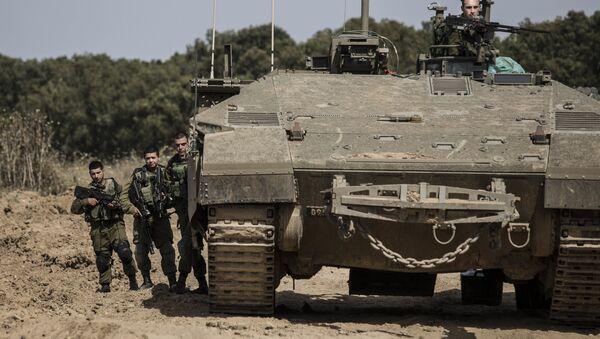 Ejército israelí en la Franja de Gaza - Sputnik Mundo