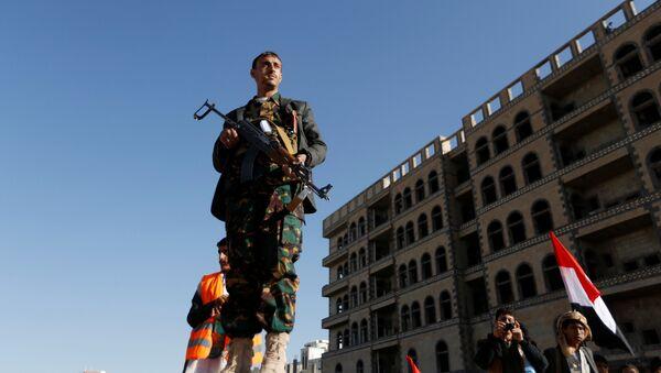 Los rebeldes hutíes en Yemen (imagen referencial) - Sputnik Mundo