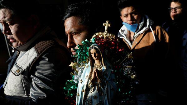 Los peregrinos católicos en México - Sputnik Mundo