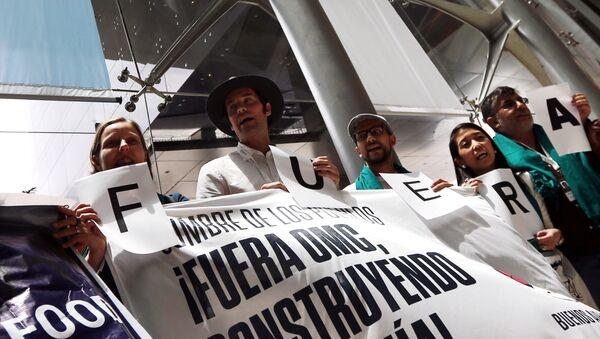 Activistas que participan en la Cumbre de los Pueblos contra la OMC en Buenos Aires, Argentina. - Sputnik Mundo