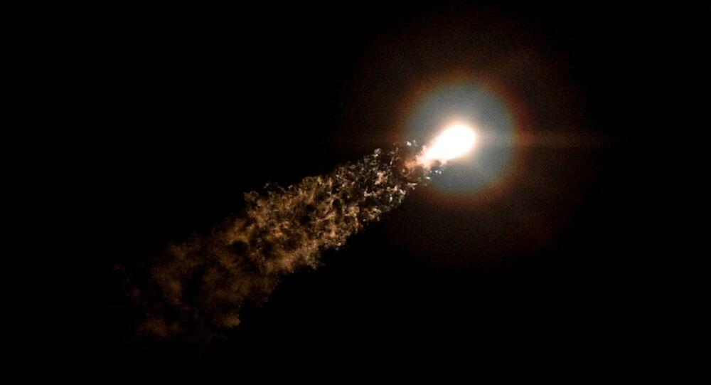 Lanzamiento del cohete Soyuz MS-05 (archivo)