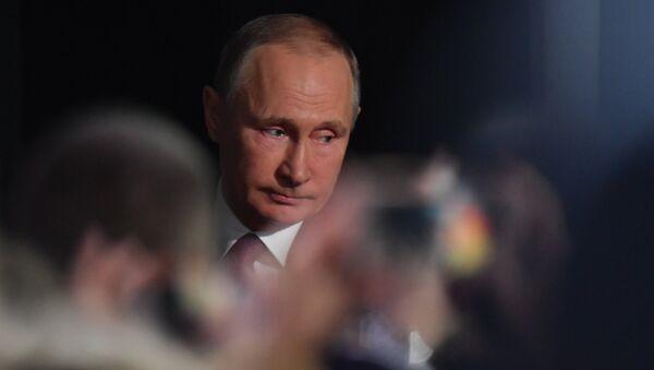 Vladímir Putin, presidente de Rusia, durante la gran rueda de prensa anual - Sputnik Mundo