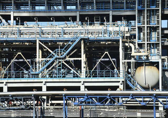 Una planta rusa de petróleo (imagen referencial)