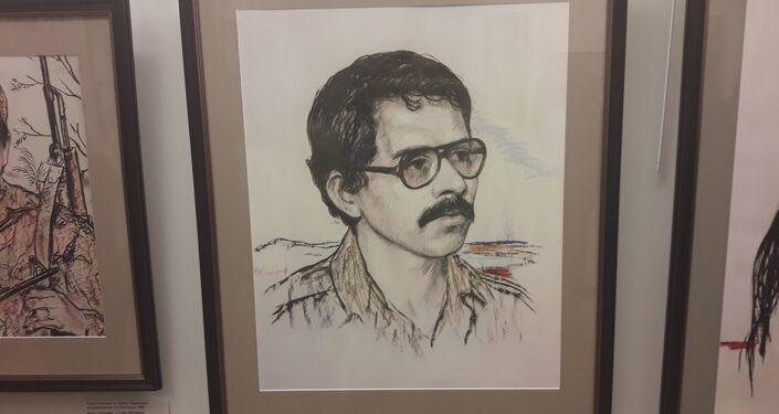 La obra 'El comandante Daniel Ortega' de Iliá Glazunov
