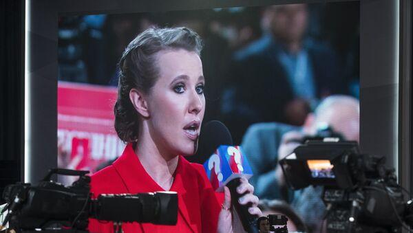 La aspirante a la Presidencia de Rusia y activista Ksenia Sobchak - Sputnik Mundo