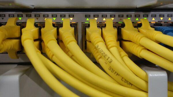 Unos cables, imagen referencial - Sputnik Mundo