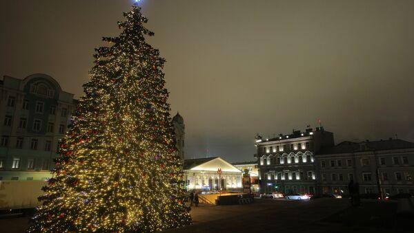 El árbol de Navidad en Moscú - Sputnik Mundo