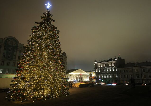 El árbol de Navidad en Moscú