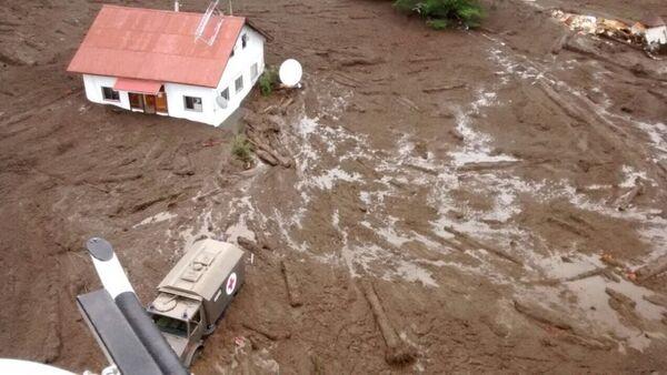 Aluvión en Villa Santa Lucia, Chile - Sputnik Mundo