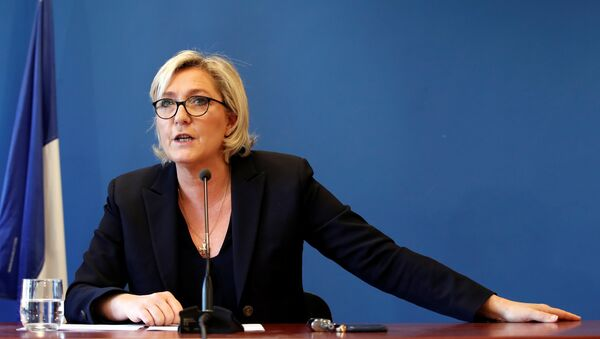 Marine Le Pen, líder de la extrema derecha francesa - Sputnik Mundo