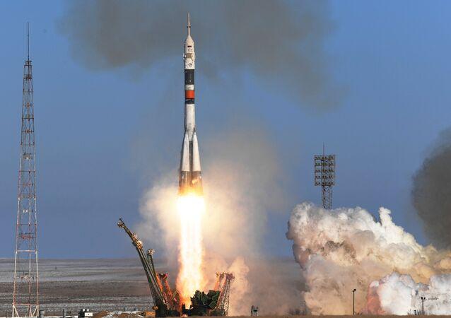 El lanzamiento de un cohete Soyuz (archivo)