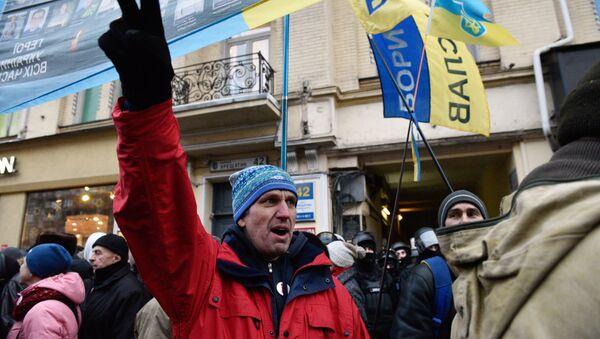 Los partidarios del expresidente de Georgia, Mijaíl Saakashvili - Sputnik Mundo