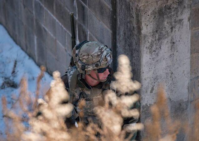 Un soldado de EEUU durante los ejercicios (archivo)