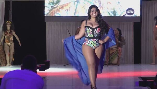El concurso de belleza 'Curvy Colombia 2017' - Sputnik Mundo