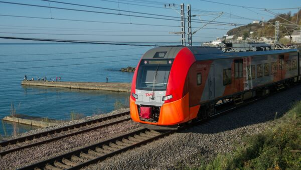 El tren de la empresa ferroviaria rusa, RZhD - Sputnik Mundo