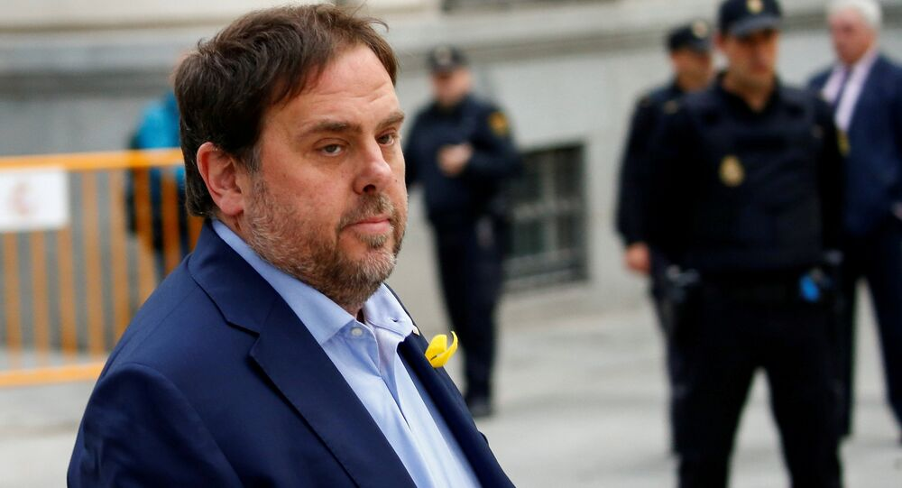 Oriol Junqueras, el exvicepresidente catalán y candidato de Esquerra Republicana de Catalunya (ERC)