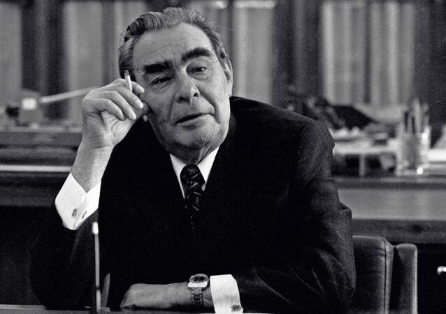 El secretario general del Partido Comunista de la URSS, Leonid Brézhnev