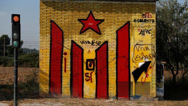 Una bandera separatista de Cataluña - Sputnik Mundo