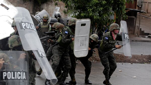 Policía militar de Honduras en Tegucigalpa, la capital del país - Sputnik Mundo