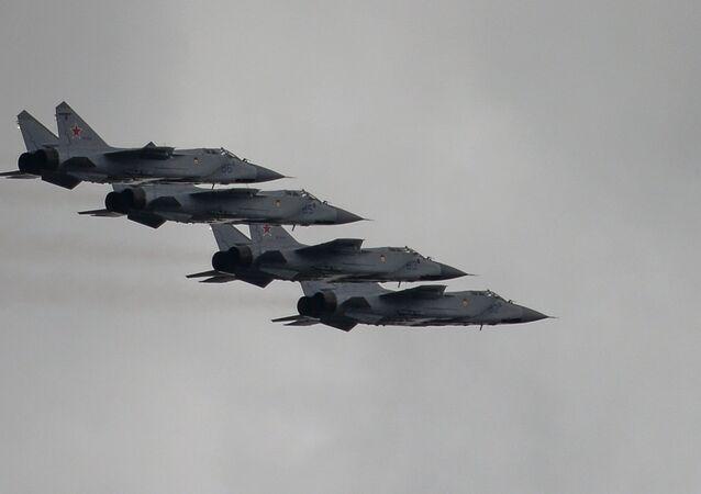 Los MiG-31 rusos