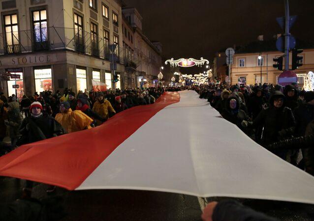 Una manifestación en Varsovia, la capital de Polonia (archivo)