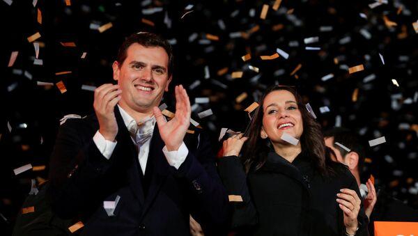 Albert Rivera, presidente de Ciudadanos, y Inés Arrimadas, candidata del partido - Sputnik Mundo