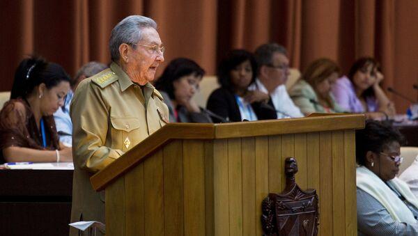 Raúl Castro, presidente de Cuba - Sputnik Mundo