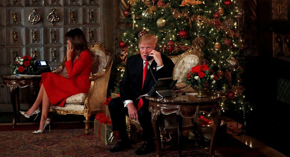 El presidente de EEUU, Donald Trump y su esposa, Melania Trump