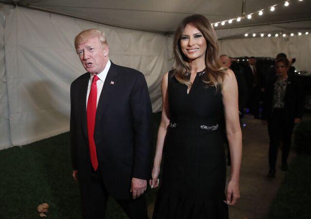 Donald Trump, el presidente de EEUU junto a su esposa Melania Trump.