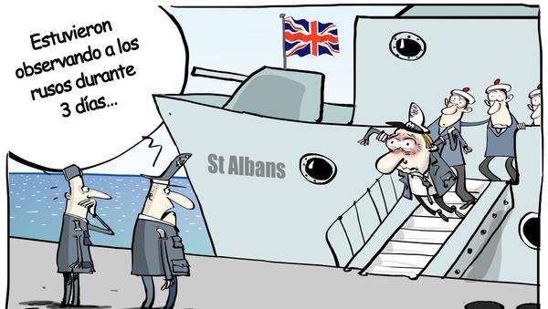 La fragata británica St. Albans escoltó al buque de guerra ruso Almirante Gorshkov cuando este navegaba cerca de las aguas territoriales británicas - Sputnik Mundo