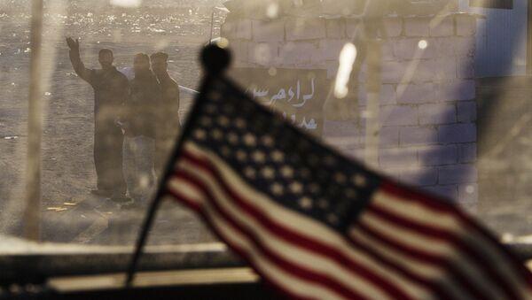 La bandera de EEUU en Irak (archivo) - Sputnik Mundo