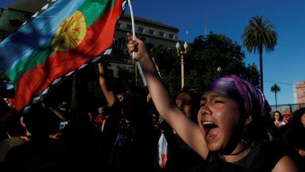 Protestas de mapuche en Argentina - Sputnik Mundo