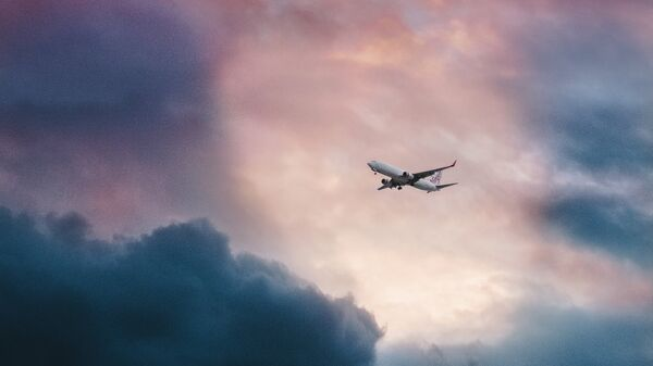 Un avión en el cielo (imagen referencial) - Sputnik Mundo