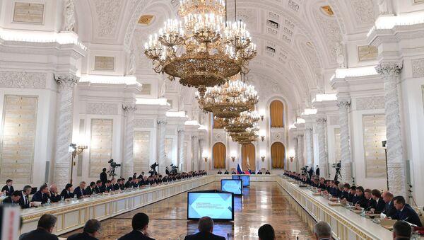 La reunión del Consejo de Estado para las inversiones en las regiones, Moscú, Rusia - Sputnik Mundo