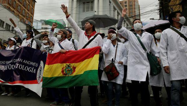 Protestas de médicos en Bolivia - Sputnik Mundo