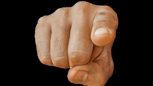 Una mano acusadora (imagen referencial) - Sputnik Mundo