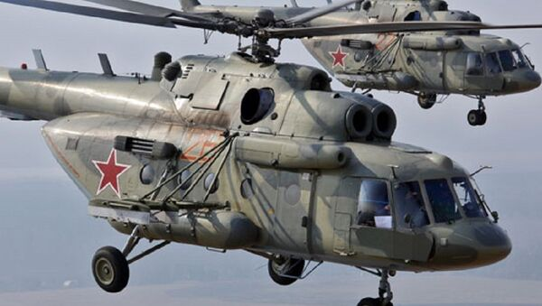 Dos helicópteros Mi-8  - Sputnik Mundo