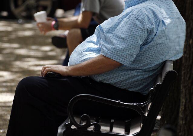 Una persona con sobrepeso (imagen referencial)