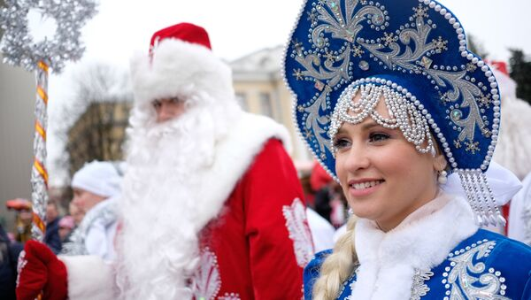 Celebración de Año Nuevo en Rusia (archivo) - Sputnik Mundo